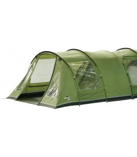 Universally fitting Premium Front Tent Awning / Canopy (330cm wide), Epsom green